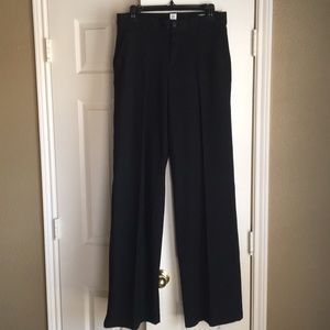 Wide leg comfy black pants in Tall size